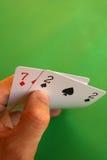 Slechte kaarten? Royalty-vrije Stock Foto