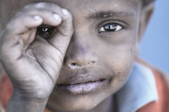 Slechte kinderen van Stakmo-dorp Leh, Ladakh India Stock Foto's