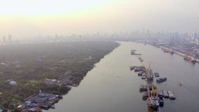Slechte Krottenwijk in Azië stock footage