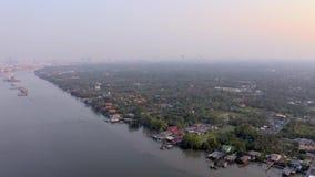 Slechte Krottenwijk in Azië stock videobeelden