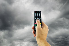 Slechte programmering in televisie stock foto