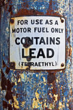 Slechts het Teken van de motorbrandstof Royalty-vrije Stock Fotografie