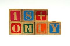 18+ slechts - tekstachtergrond Royalty-vrije Stock Afbeelding