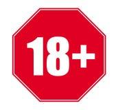 18+ slechts vector21+ Royalty-vrije Stock Afbeelding