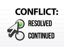 Sélection de questions et réponses resolved de conflit Image libre de droits