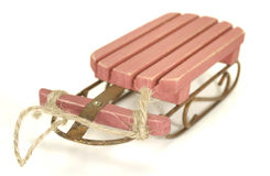 Sled. Photo of a Vintage Wooden Sled - Vintage / Antique Royalty Free Stock Image