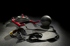 Sled color medicine ball Royalty Free Stock Photography