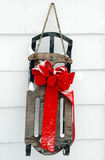 Sled decoration with snow Stock Images