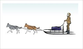 Sled dogs Stock Photography