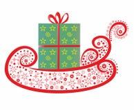 sled för gåva s santa Royaltyfri Foto