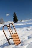 Sled på snowen Royaltyfri Fotografi