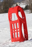 Sled for playing in the snow in mountains Royalty Free Stock Image