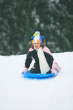 Sled ride Royalty Free Stock Photo
