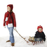Sled Rides are Fun! Stock Images