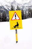 Sled route sign Stock Photos