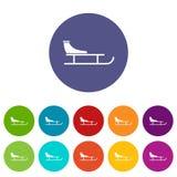Sled set icons Royalty Free Stock Photo