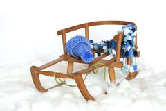 Sled in the snow Royalty Free Stock Photography
