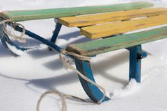 Sled in the snow Stock Photography