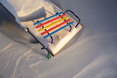 Sled in the snow Royalty Free Stock Images