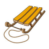 Sled. Vector hand drawn illustration Royalty Free Stock Photos