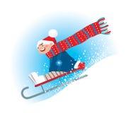 sledding的冬天 库存例证