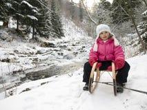 sledding зима времени Стоковые Фото