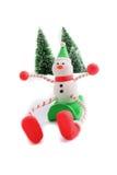 sledding снеговик Стоковое Изображение RF