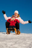 Sledding Stock Photo