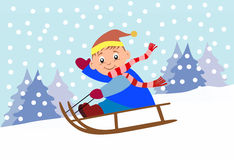 Sledding Royalty Free Stock Image