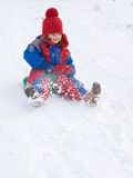 Sledding Immagine Stock