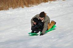 sledding Стоковые Изображения