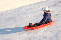 Sledding Royalty Free Stock Photo