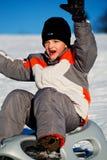 Sledding boy Royalty Free Stock Photography