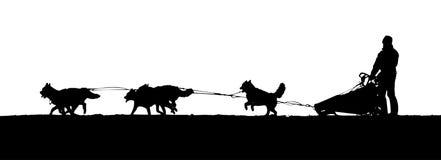Sledding för hund vektor illustrationer
