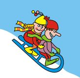 Sledding Royalty Free Stock Images