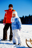 Sledding girls Stock Photography