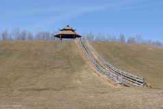 Sledding Hill. In the spring Royalty Free Stock Photo