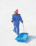 Sledding Is Fun Royalty Free Stock Images