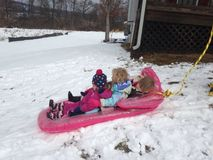 Sledding na fanaberii Obraz Royalty Free