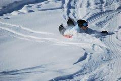 sledding nastoletni Zdjęcia Royalty Free