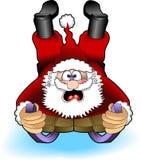 Sledding_santa_02 royalty free stock images