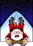 Sledding_santa.jpg Royalty Free Stock Photography