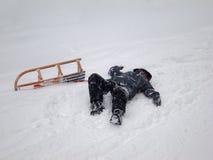 Sledding wypadek (2) Zdjęcie Royalty Free