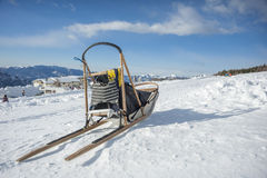Sleddog's sled Royalty Free Stock Image