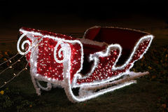 Sledge. Christmas sledge lights at local park Stock Photos