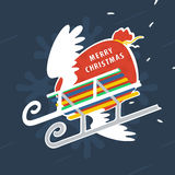 Sledge and Christmas Gifts Royalty Free Stock Images
