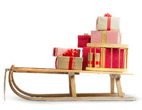 Sledge with Christmas presents Royalty Free Stock Photography