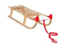 Sledge de madeira no branco Foto de Stock