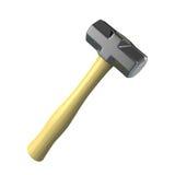Sledge hammer. Isolated on white Stock Photo