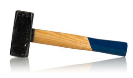 Sledge hammer with wooden handle Royalty Free Stock Images